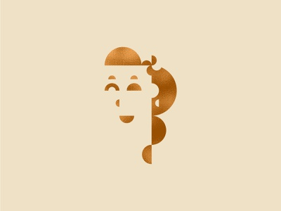 Half Circle Wife art illustration texture vector ear ring nose mouth wink flower hair girl woman wife foil gold foil gold half circle