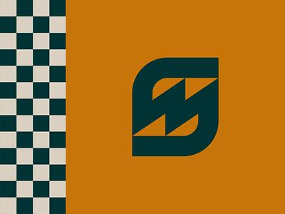 Seth Morris Racing pattern vintage racing 3 design vector texture clean branding logo monogram logo monogram m s