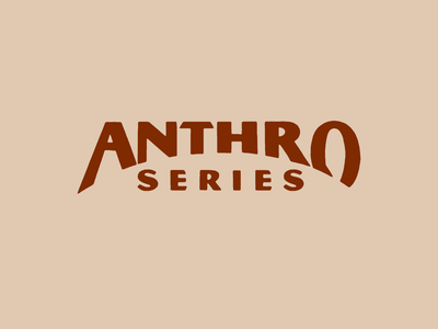 Anthro Series Wordmark yellowstone cowboy series whiskey anthro red typography branding design vintage logo texture vector