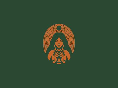 Girl spirits whiskey sun drink girl procreate negative space vintage art logo vector texture illustration