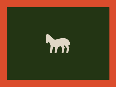 O&E Icons cream red green whiskey horse vintage iconography vector illustrator icon illustration