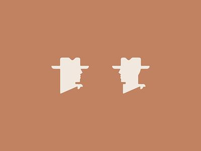 Icon set for Oak & Eden Whiskey iconography western cowboy woman man howdy icon vintage design art illustration vector