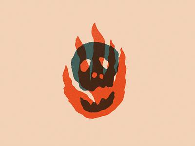 Even Death Dies procreate even death dies death fire skull design art texture illustration red