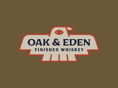 Oak & Eden Merch texas lowdrag oak  eden whiskey bird eagle dove design art red illustration vector