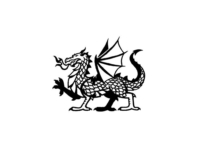 Dragon 2 dragon sketch black and white
