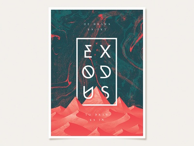 Early Exodus Sermon Series Poster egypt exodus pyramids texture marble white navy blue red