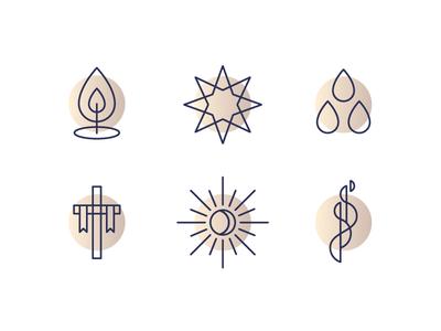 Church Calendar Icons
