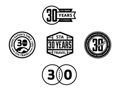 sta travel 30th anniversary logo creativetyler anthony - dribbble