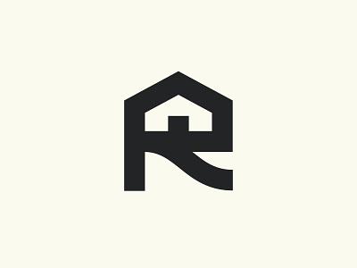 Render Equity Branding (Unused) r branding sidewalk driveway door house logo black and white