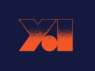 Young Adults Branding monogram vintage 70s navy orange red ya a y branding young adult