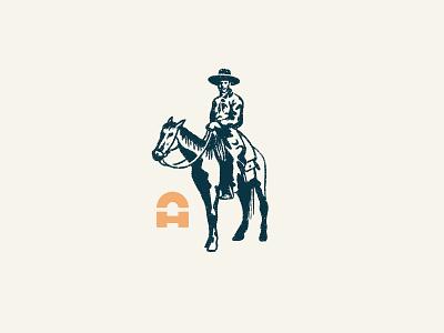 Anthony Creative House - Texan hand drawn texture cowboy hats a horse texas