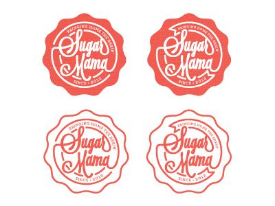 Sugar Mama logo option 1 red logo stamp