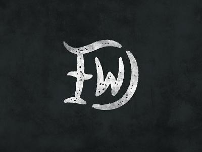 DFW artist art fun design dfw fort worth dallas texas texture vintage simple monogram hand drawn w f