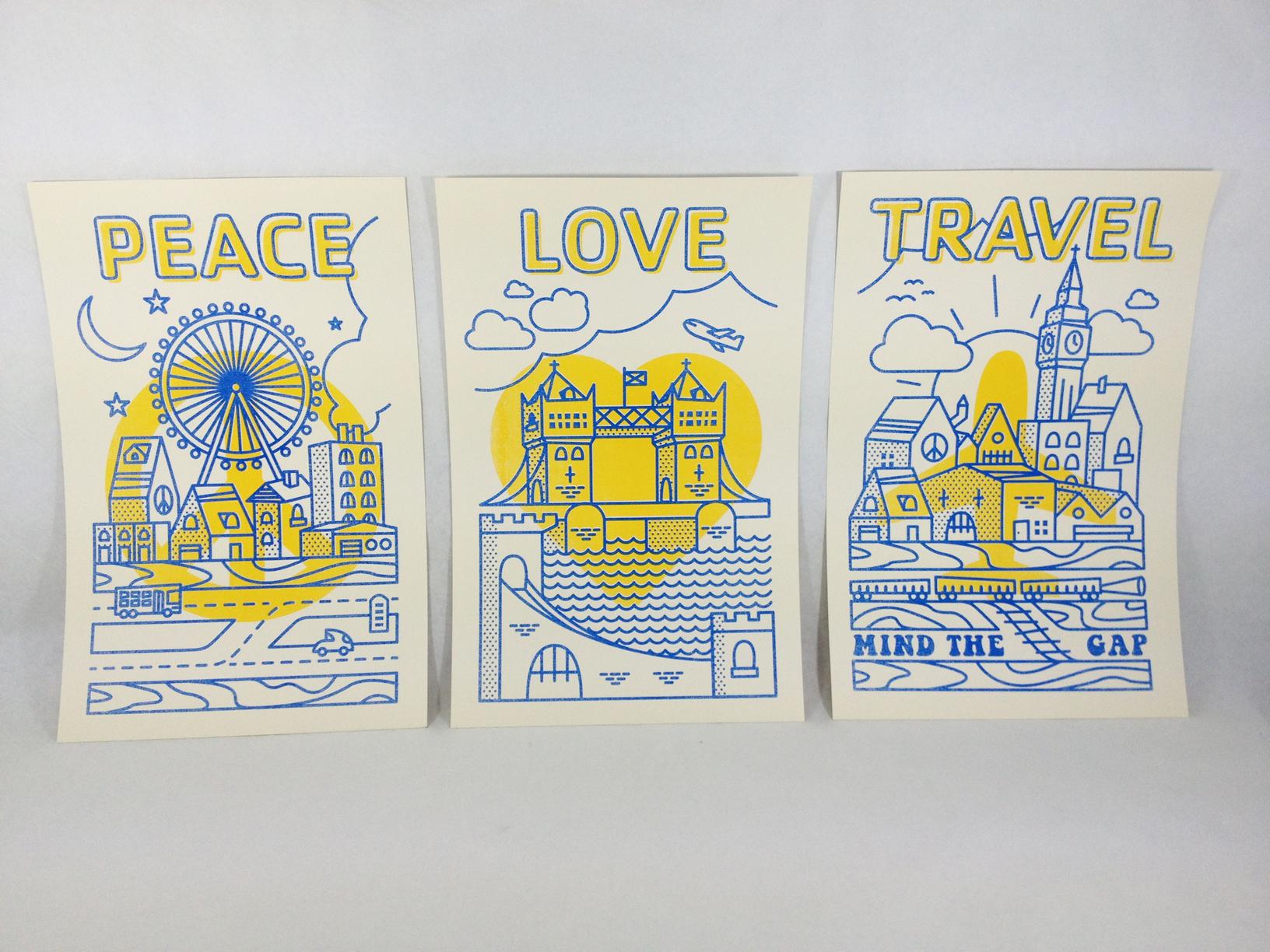 Peace love travel large