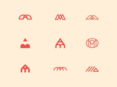 M.A. – A.M. Monogram (& a pencil or two) typography branding vector company artist graphicdesign design lines pencil art logo