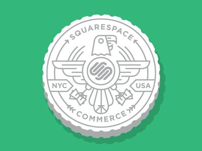 Squarespace Contest Quarter squarespace commerce eagle quarter green gray white