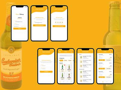 Liquor Delivery App app app design ux design clean ui ui design minimal clean uiux beer delivery app