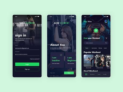 Workout App UI app design ux design clean ui clean ui design minimal uiux training fitness app fitness excercise health trainer workout app