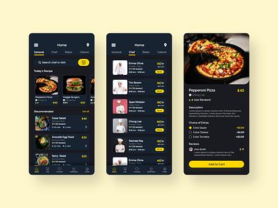 Home Chef Mobile App app design ux design clean ui clean minimal uiux ui design delivery app ordering app order food delivery app food ordering app order food chef app