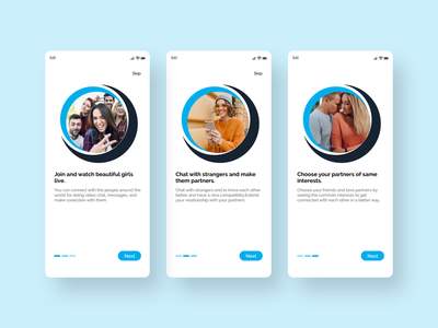 Dating App Onboarding design clean ui clean minimal uiux ui design dailyui valentine app social app message message app tinder chating app chating chat date dating app design