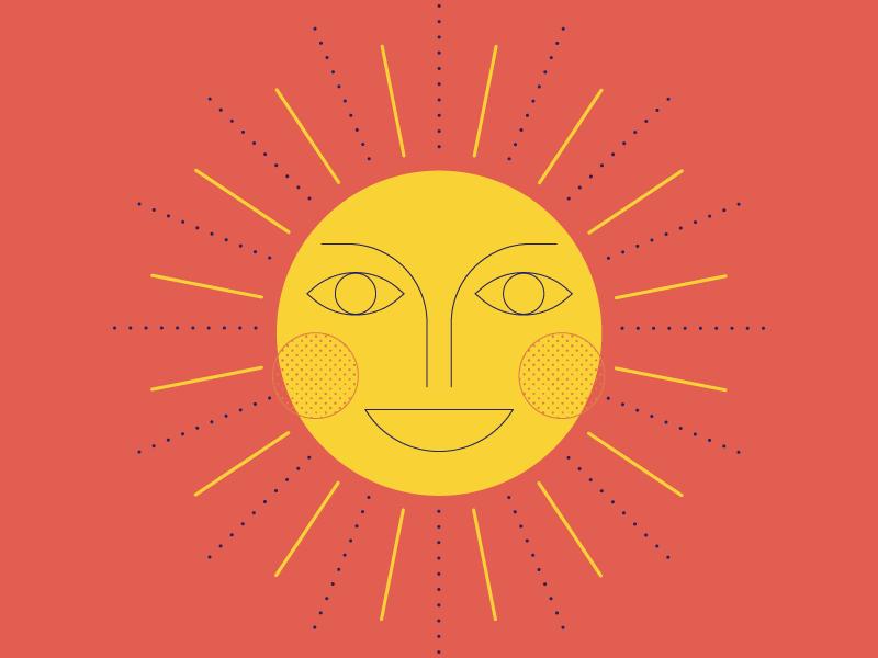 sunshine austin texas happiness happy playful iconography icon artwork sunshine graphic  design illistration sun rays sun