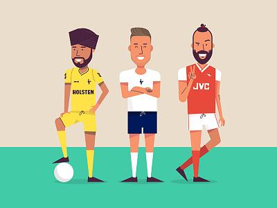 Any football podcast flat colour illustration ball soccer premier league arsenal spurs football