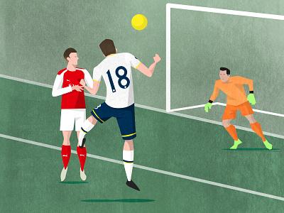 Tottenham Hotspur North London Derby Programme Cover art texture illustration ball soccer football arsenal spurs hotspur tottenham