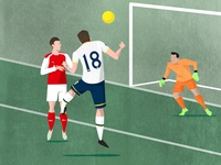 Tottenham Hotspur North London Derby Programme Cover
