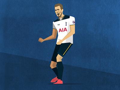 Tottenham Hotspur North London Derby Programme Cover kane art texture illustration ball soccer football arsenal spurs hotspur tottenham