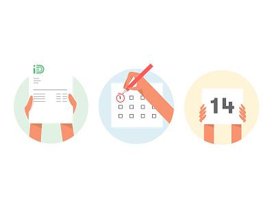 Spot illustrations id mobile flat colour vector illustration wallet money smartphone phones hands bill
