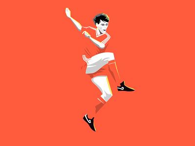 Marco Van Basten photoshop vanbasten illustration soccer futebol football oranje orange dutch netherlands holland 1988