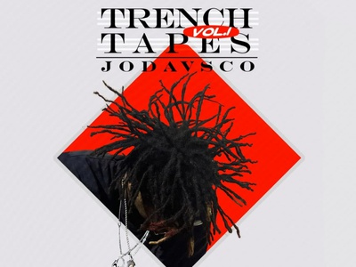 Trench Tapes Vol.1 mixtape cover art jodavsco cover artwork album cover album cover art album cover design design alimaydidthat graphic design ali may cover art