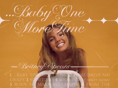 ...BABY ONE MORE TIME   Britney Spears • Tracklist Design baby shower graphicdesign album cover cover artwork album cover art album cover design cover art alimaydidthat graphic design ali may britney britney spears baby one more time