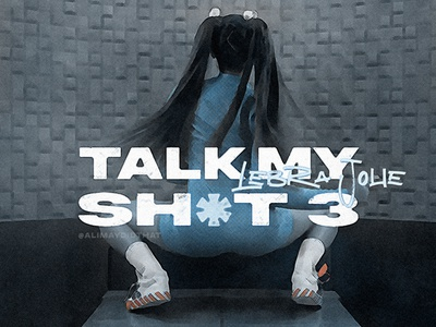 TALK MY SH*T   Lebra Jolie • Cover Art logo design album cover art album cover design cover art alimaydidthat graphic design ali may