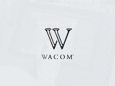 Wacom • Logo Redesign branding and identity rebranding logo designer photoshop illustrator design icon logotype logo inspiration logo presentation branding identity branding redesign logo redesign wacom logo logo design graphic design alimaydidthat