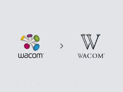 Wacom • Logo Redesign (After & Before) ui branding and identity logo redesign redesign rebranding wacom logo designer logo design branding  identity branding brand illustration design logo alimaydidthat graphic design ali may