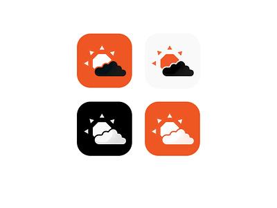 AccuWeather • Logo Redesign  (App Icons) ui app app logo accuweather orange palette color logo inspiration logo designer logo design branding and identity branding  identity branding rebranding logo rebranding logo redesign logo graphic design alimaydidthat ali may