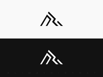 Monogram Logo Design (B&W)   FOR SALE logo ideas logo inspiration monogram icon minimal grid illustration branding  identity branding black and white bw logo redesign logo for sale logo designer logo design ui logo design alimaydidthat graphic design