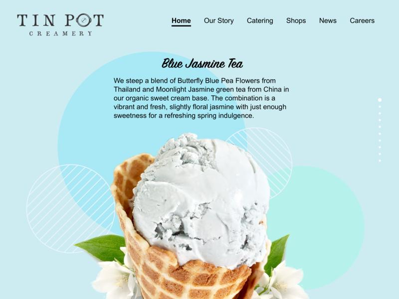 Tin Pot Web Redesign icecream webdesign design web