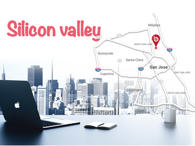 Silicon Valley workspace silicon valley map