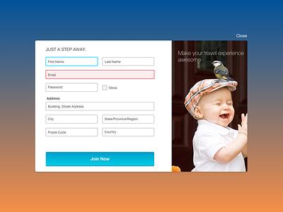 Getting user in  register