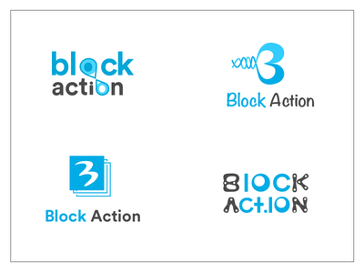 BLOCK ACTION block chain cryptocurrency logo