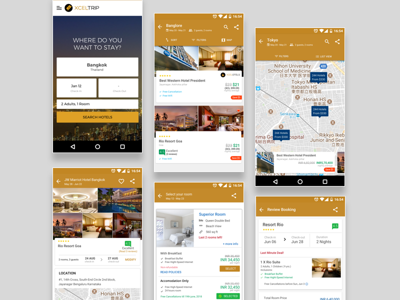 Hotel Booking UI of XcelTrip android xceltrip booking hotel