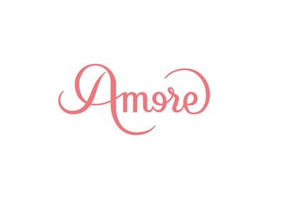 A more logo logotype mark brand custom type design handmade lettering amore love more moreamore