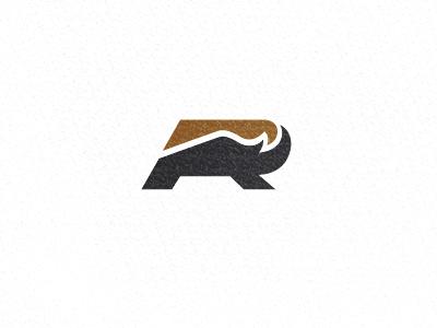 Rhino logo logo design rhino simple geometric letter r r
