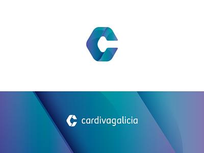 Cardiva logo logo design healthcare supplies solutions technical tech letter c