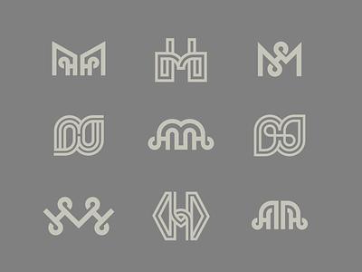 MH monogram letter h letter m logo