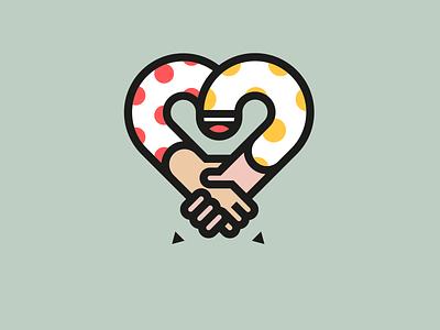 JOB DONE!! arm handshake love hand business design client happy dot pencil heart smile job fun