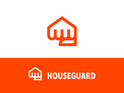 houseguard clear distinctive memorable simple strong fist punch guard guardian home house mark logo