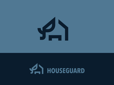houseguard2 watcher eye strong big guardian elephant memorable simple mark logo